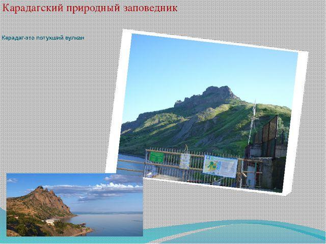 Карадагский природный заповедник Карадаг-это потухший вулкан