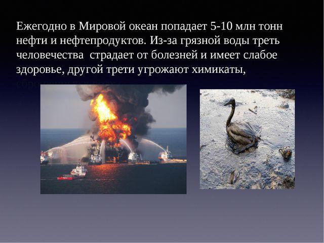 Ежегодно в Мировой океан попадает 5-10 млн тонн нефти и нефтепродуктов. Из-за...