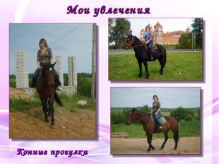 Мои увлечения Конные прогулки