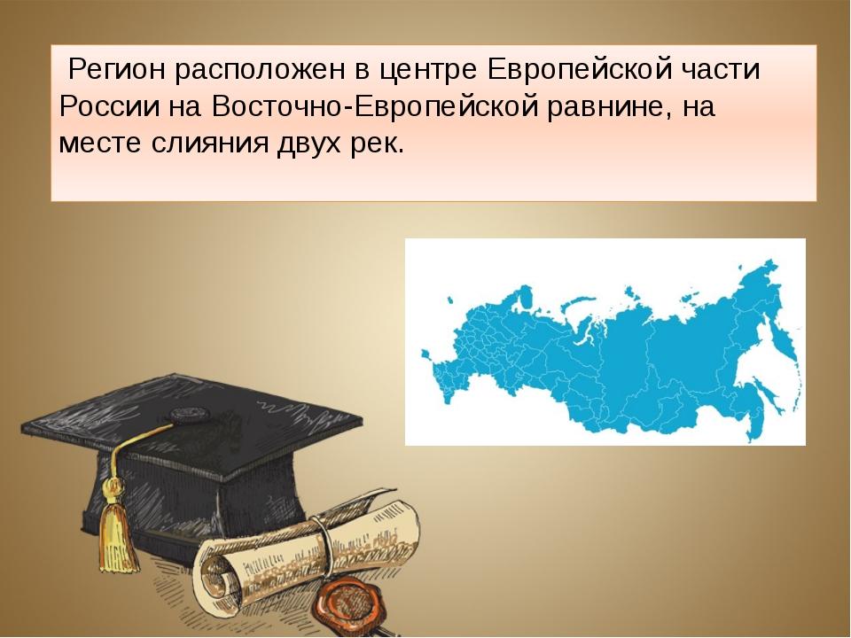 Регионрасположен в центреЕвропейской части РоссиинаВосточно-Европейской...