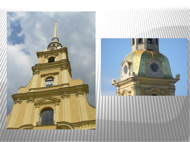Колокольня собора построена в несколько этажей- ярусов. Каждый ярус украшают...