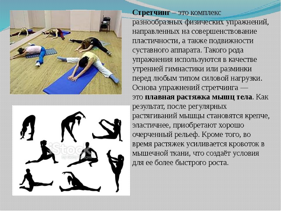 Виды физических упражнений в картинках