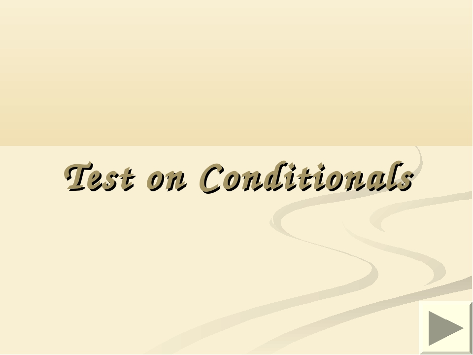 Test on Conditionals