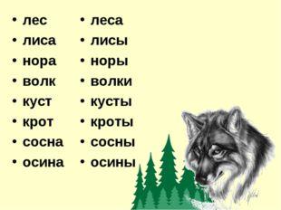лес лиса нора волк куст крот сосна осина леса лисы норы волки кусты кроты сос