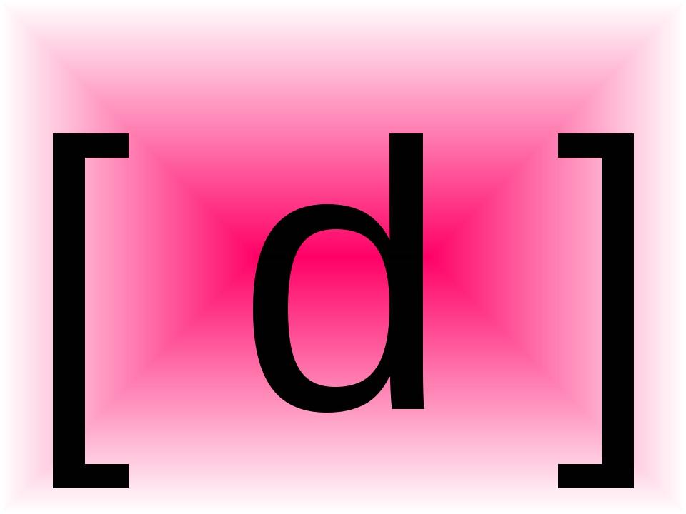 [ d ]