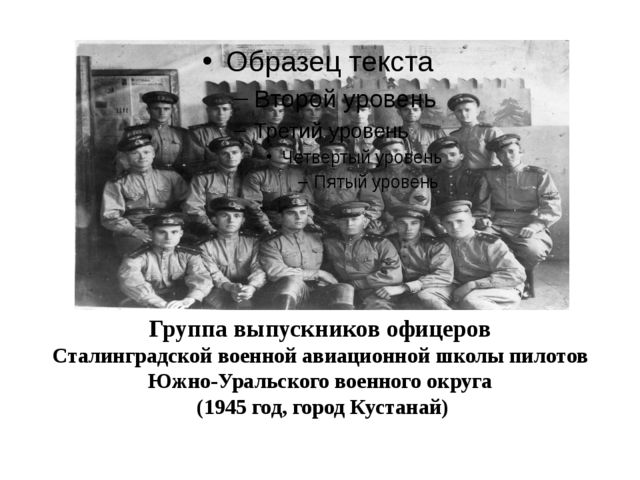 Группа выпускников офицеров Сталинградской военной авиационной школы пилотов...