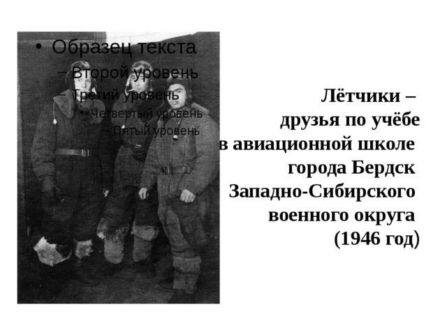 Лётчики – друзья по учёбе в авиационной школе города Бердск Западно-Сибирско...