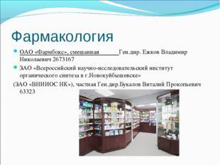 Фармакология ОАО «Фармбокс», смешанная Ген.дир. Ежков Владимир Николаевич 267
