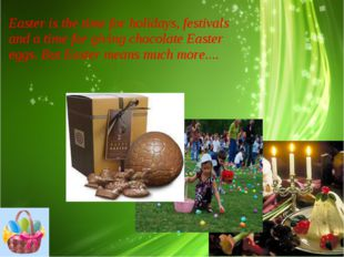 Easter is the time for holidays, festivals and a time for giving chocolate Ea