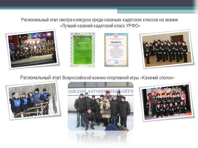 Региональный этап смотра-конкурса среди казачьих кадетских классов на звание...