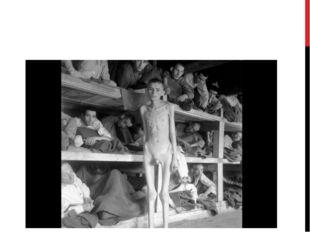 Еврейские заключенные в концентрационном лагере Бухенвальд, после освобожден