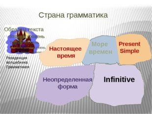 Страна грамматика Море времен Настоящее время infinitive Резиденция волшебни