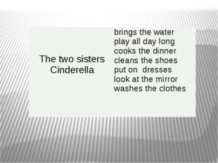 Thetwosisters Cinderella brings the water play all day long cooks the dinner