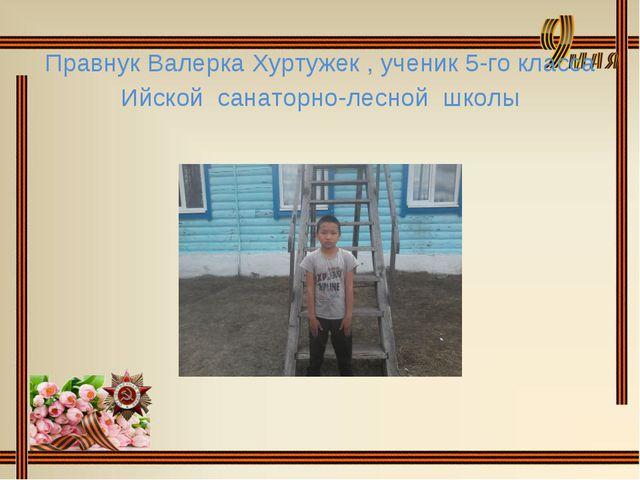 Правнук Валерка Хуртужек , ученик 5-го класса Ийской санаторно-лесной школы