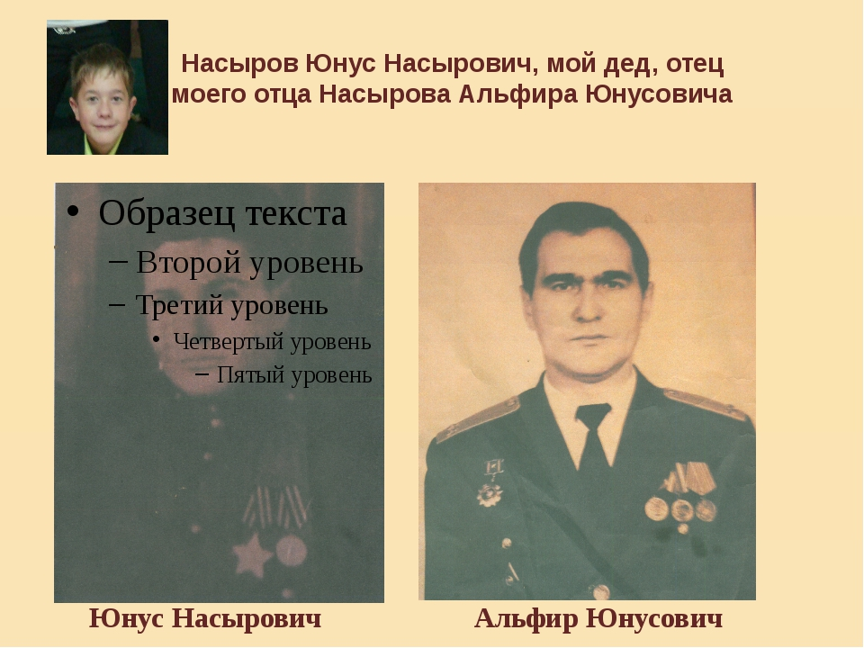 Насыров Юнус Насырович, мой дед, отец моего отца Насырова Альфира Юнусовича Ю...