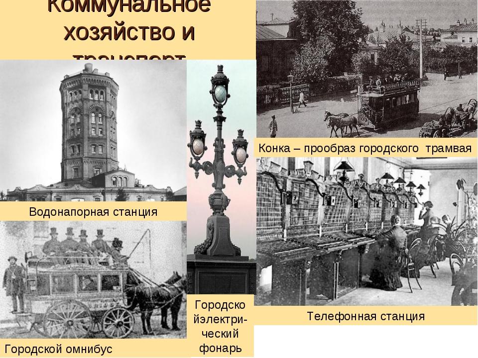 Коммунальное хозяйство и транспорт Конка – прообраз городского трамвая Телефо...