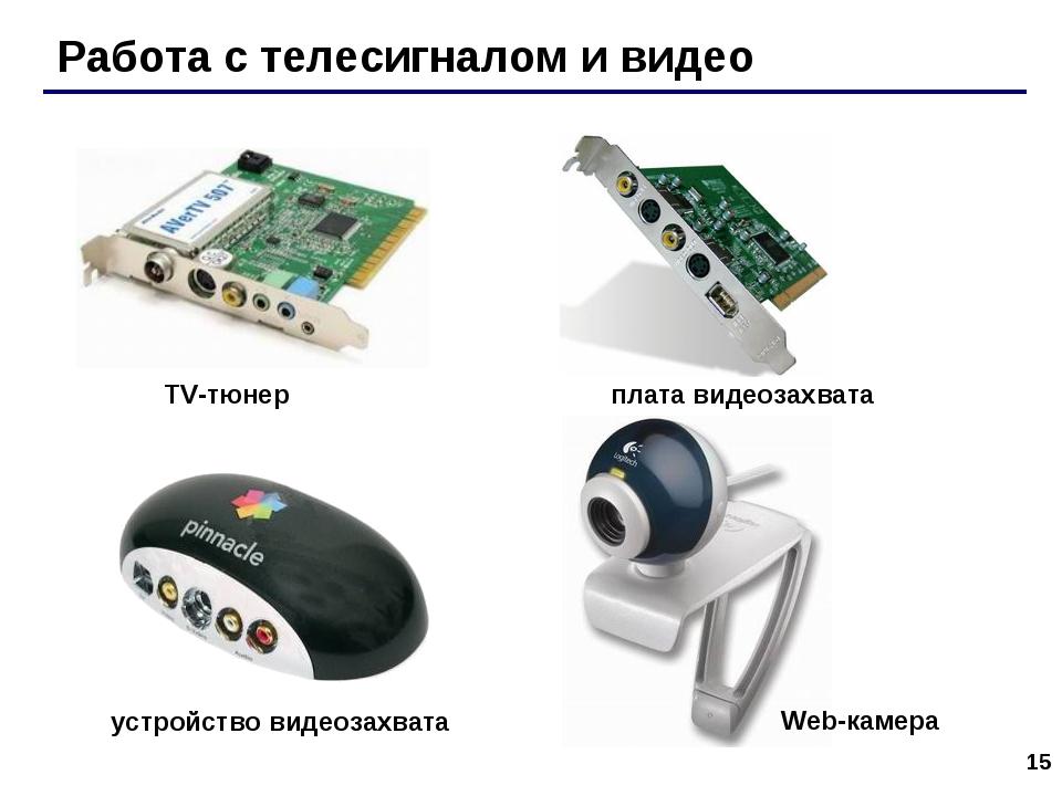 * Работа с телесигналом и видео TV-тюнер плата видеозахвата устройство видеоз...