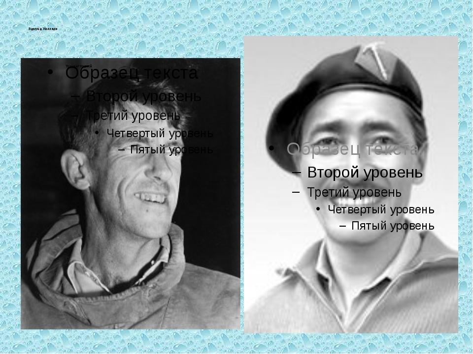 Эдмунд Хиллари Тенцинг Норгей
