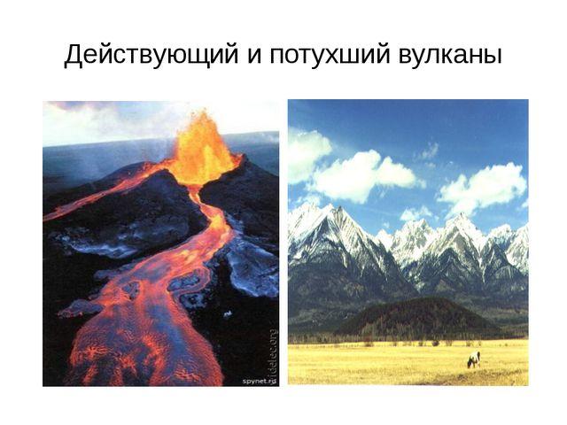 Действующий и потухший вулканы
