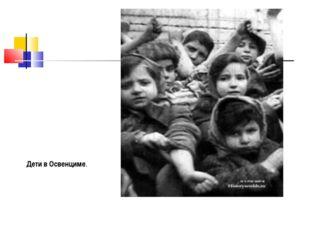 Дети в Освенциме.