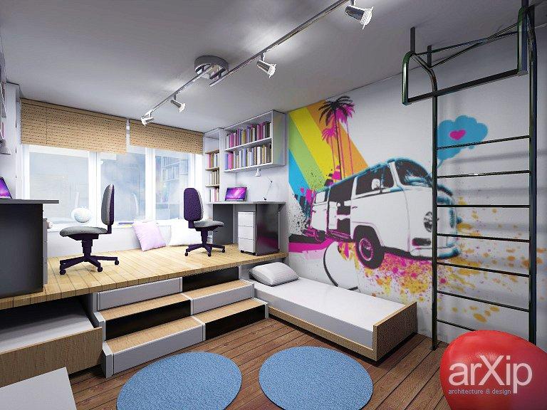Дизайн проекты комнаты для подростка