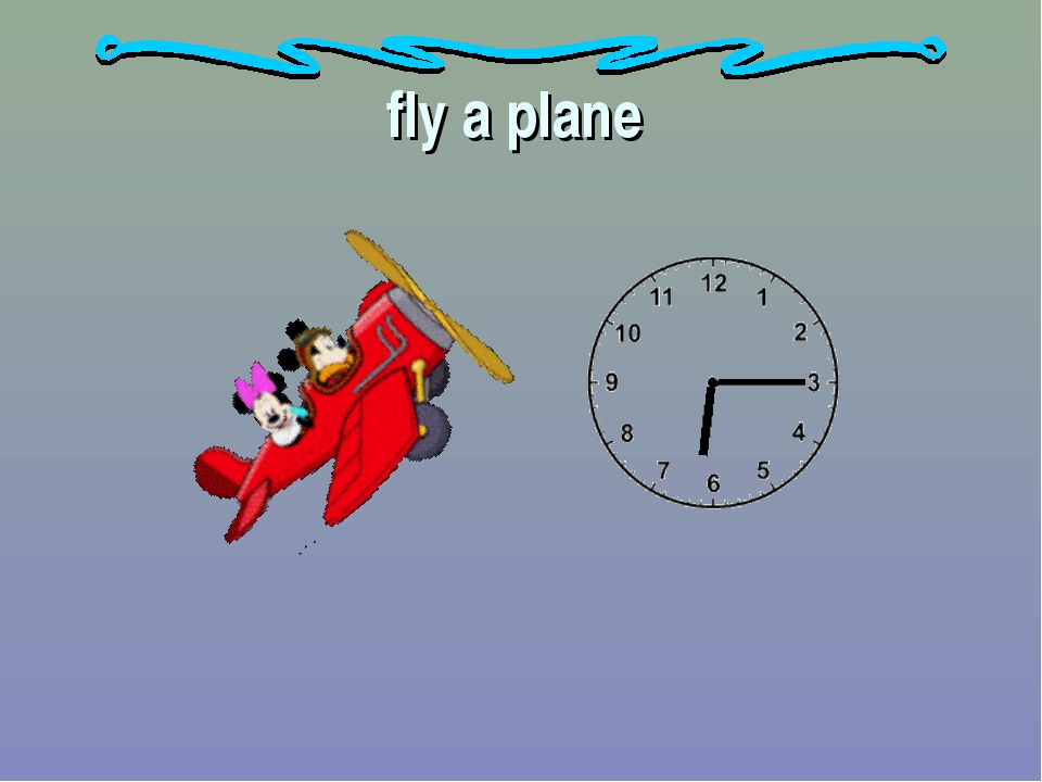 fly a plane