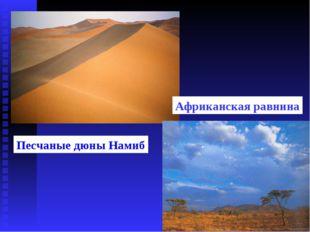 Песчаные дюны Намиб Африканская равнина