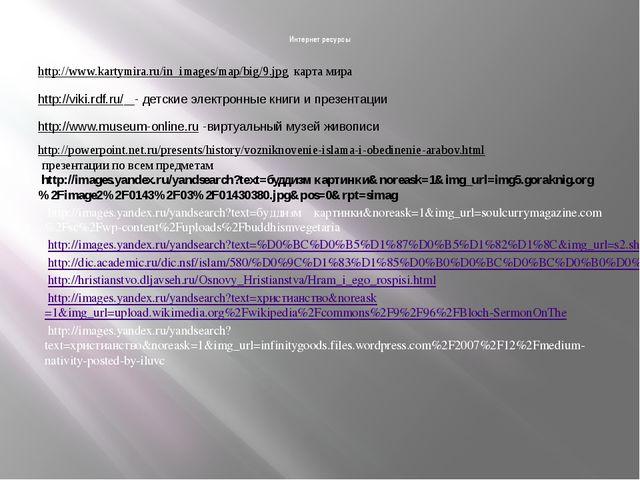 Интернет ресурсы http://www.kartymira.ru/in_images/map/big/9.jpg карта мира h...