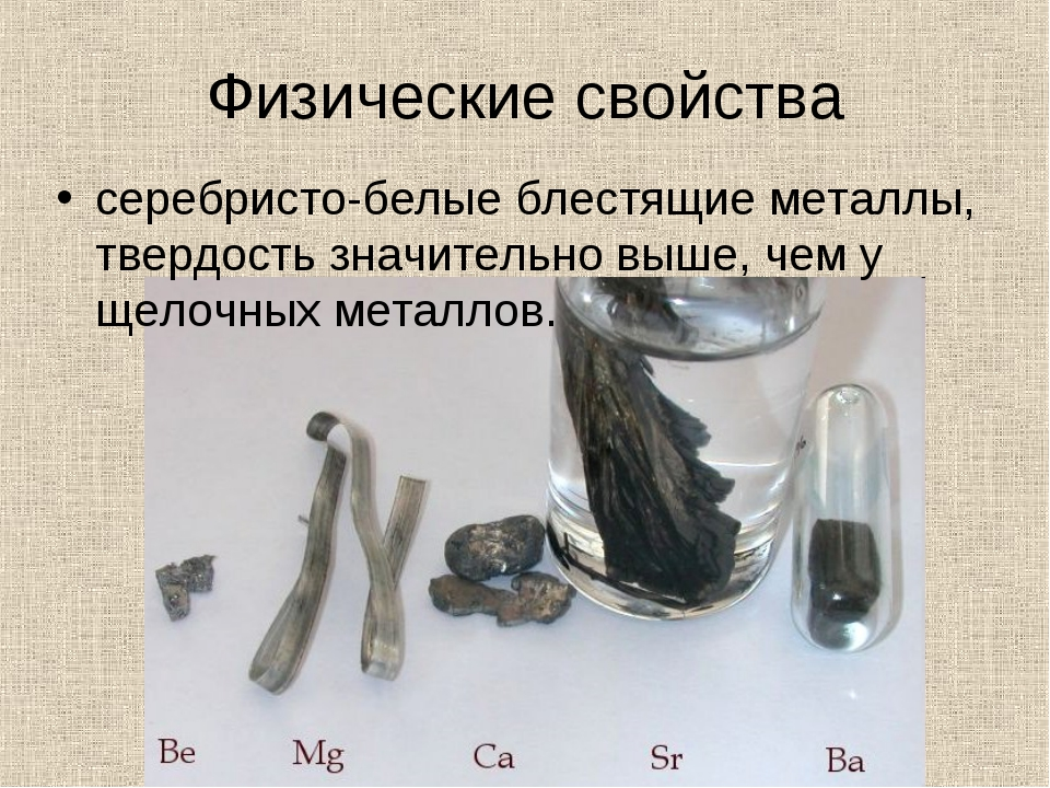 Физические свойства серебристо-белые блестящие металлы, твердость значительно...