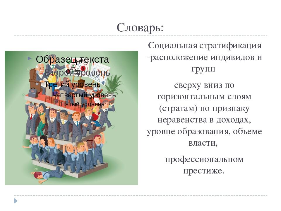 В чем сходства и различия? Геологическая стратификация Социальная стратификация