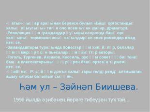 -Ҡатын-ҡыҙҙар араһынан беренсе булып «Башҡортостандың халыҡ яҙыусыһы» тигән о