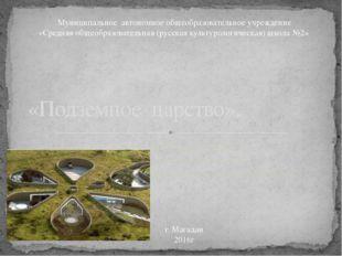 Работу выполнили ученицы 9 класса Б Шин Ирина, Борзилова Ксения «Подземное ца