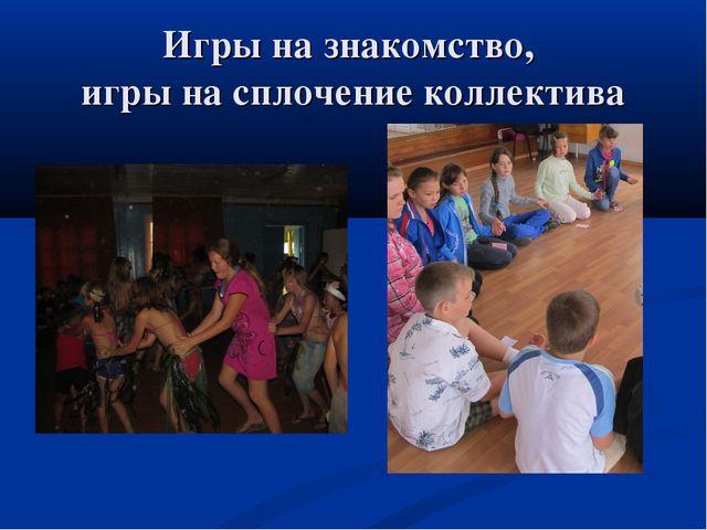 Игры на знакомство презентация