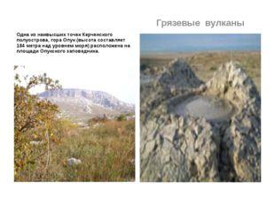 Одна из наивысших точек Керченского полуострова, гора Опук (высота составляе