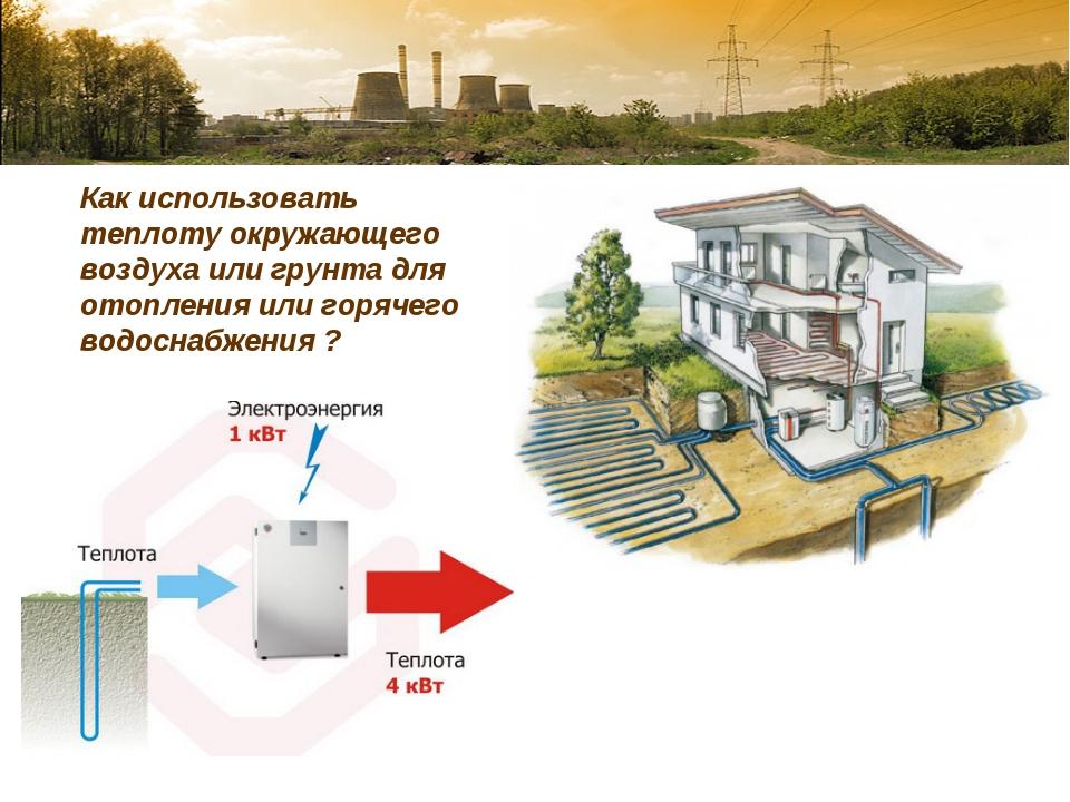 Как использовать теплоту окружающего воздуха или грунта для отопления или го...