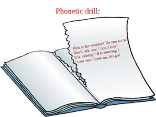 Phonetic drill: How is the weather? Do you know? Don't ask me! I don't now! I