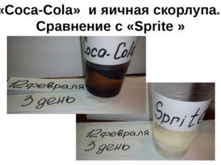 «Coca-Cola» и яичная скорлупа. Сравнение с «Sprite »