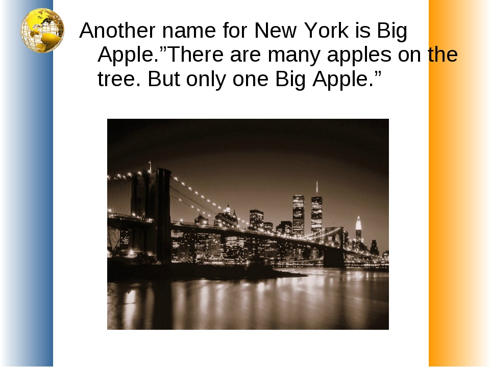 "Another name for New York is Big Apple.""There are many apples on the tree. Bu..."