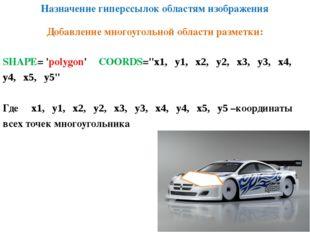 """Назначение гиперссылок областям изображения SHAPE= 'polygon' COORDS=""""х1, у1,"""