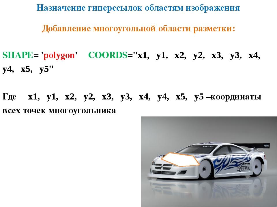 """Назначение гиперссылок областям изображения SHAPE= 'polygon' COORDS=""""х1, у1,..."""