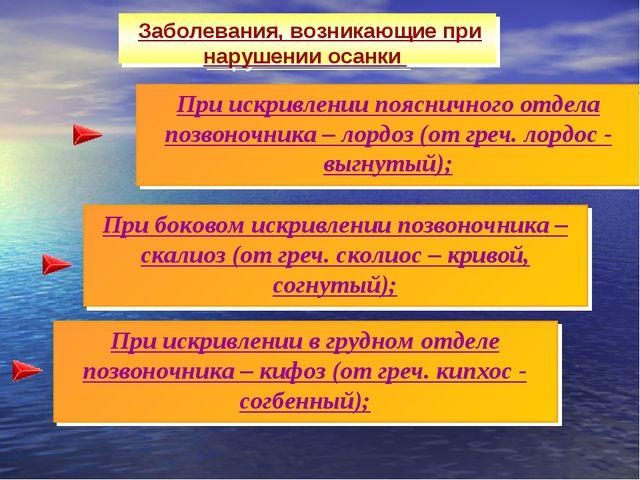 При искривлении в грудном отделе позвоночника – кифоз (от греч. кипхос - согб...