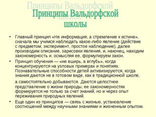 Главный принцип «Неинформация, астремление кистине», сначала мыучимся наб