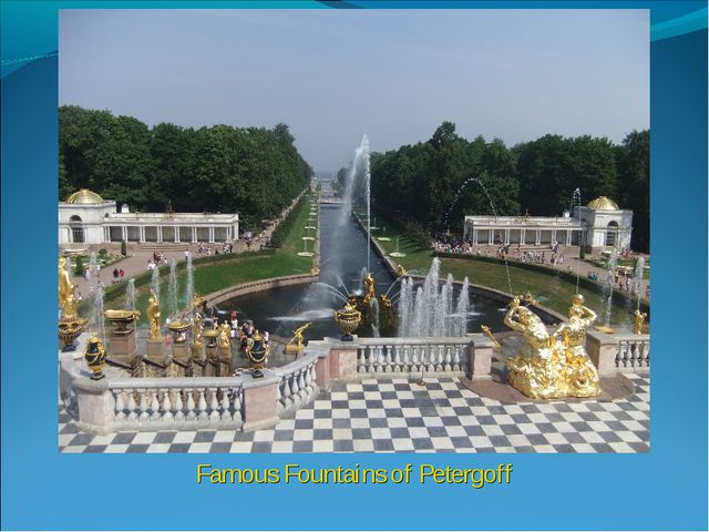 Famous Fountains of Petergoff