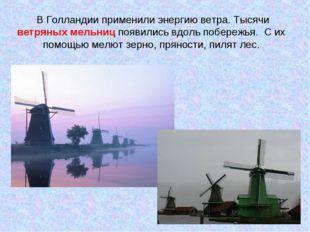 В Голландии применили энергию ветра. Тысячи ветряных мельниц появились вдоль