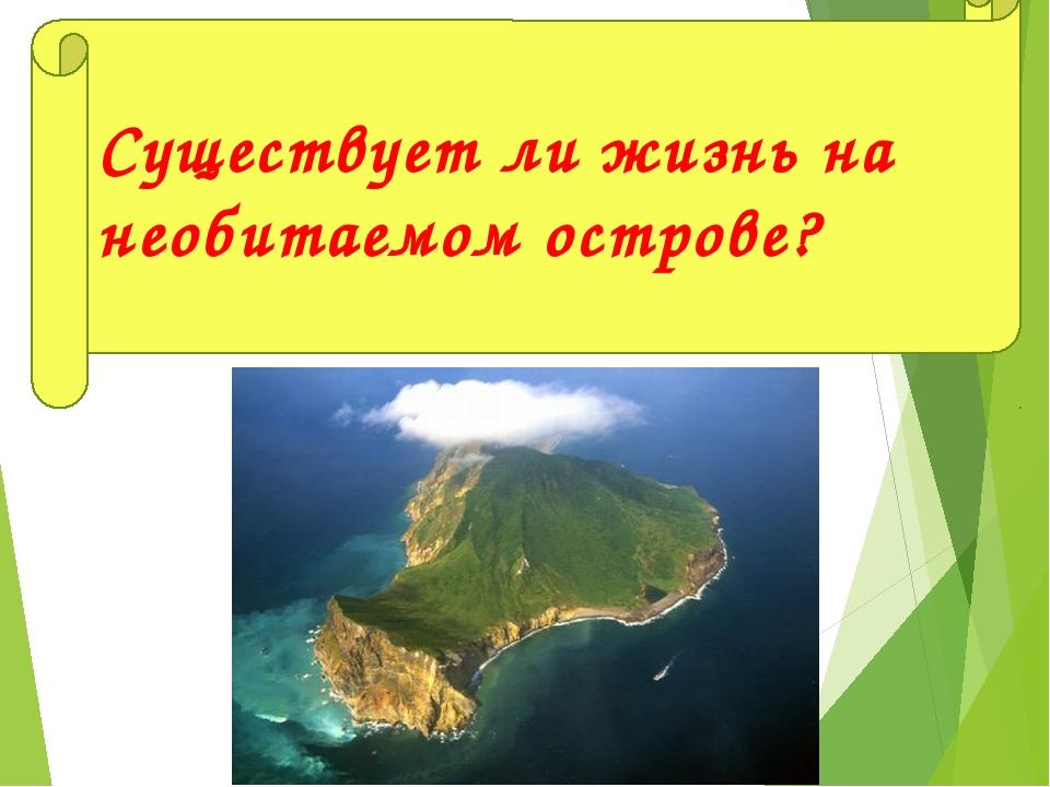 Существует ли жизнь на необитаемом острове?