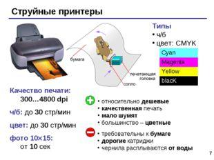 * Качество печати: 300…4800 dpi ч/б: до 30 стр/мин цвет: до 30 стр/мин фото 1