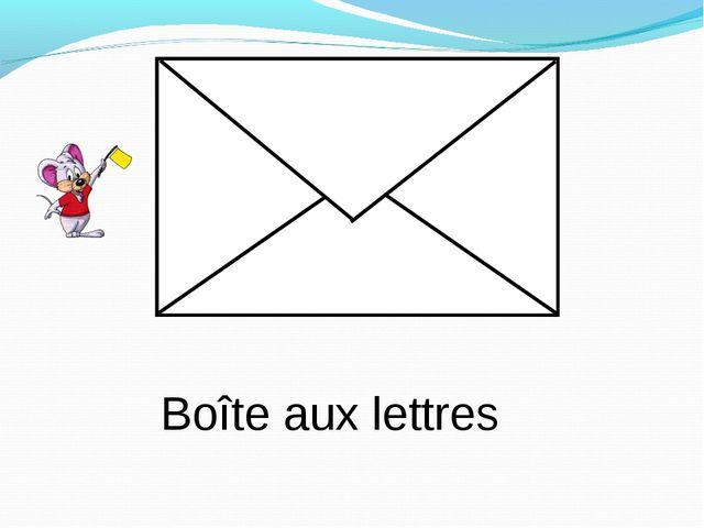 Boîte aux lettres