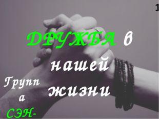 Группа СЭН-11 ДРУЖБА в нашей жизни 1