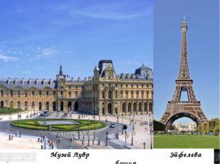 Музей Лувр Эйфелева башня