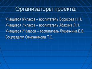 Организаторы проекта: Учащиеся 6б класса – воспитатель Борисова Н.Н. Учащиеся